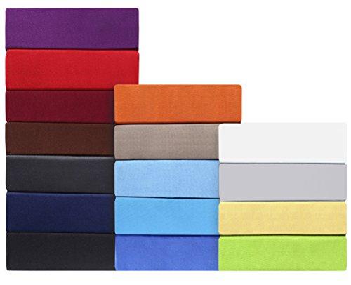 leevitex® MIKROFASER Spannbettlaken, Spannbetttuch 100% Polyester in vielen Größen und Farben MARKENQUALITÄT ÖKOTEX Standard 100 | 140 x 200 cm - 160 x 200 cm - lila