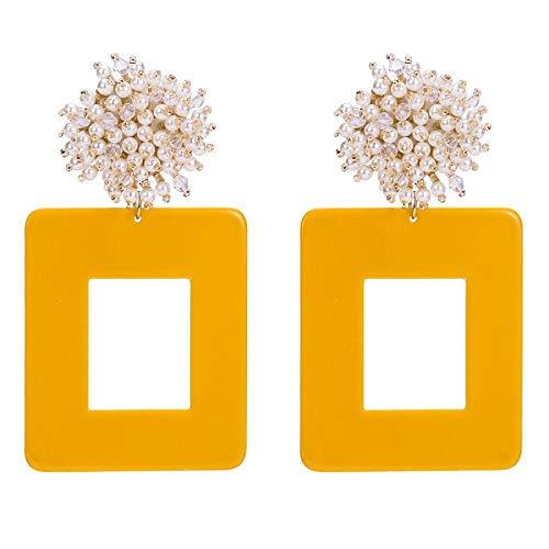 Ziiiyawei Oorbellen voor dames, boho, persoonlijkheid, boom-oorringen, vintage, plank, geometrische druppelvormige oorbellen voor vrouwen