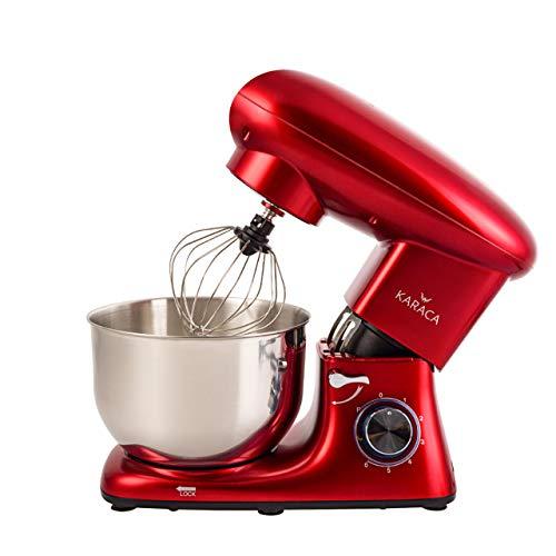 Karaca Multichef Küchenmaschine Redgold 1400W, 6 stufige Geschwindigkeit Teigmaschine mit Rührbesen, Knethaken, Spritzschutz, Schlager, Handmixer, Rührgerate, Mixer, Kuchenmaschine angebot