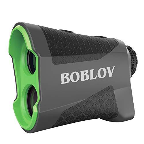 BOBLOV Telémetro de golf de 650 yardas con función de exploración continua de vibración Pinsensor, aumento 6X Serie K600 (K600AG con pendiente)