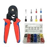 Crimpzangen Aderendhülsen Set, 1200 stück Aderendhülsenzange Tool Kit 0.25-10mm² für isolierte...