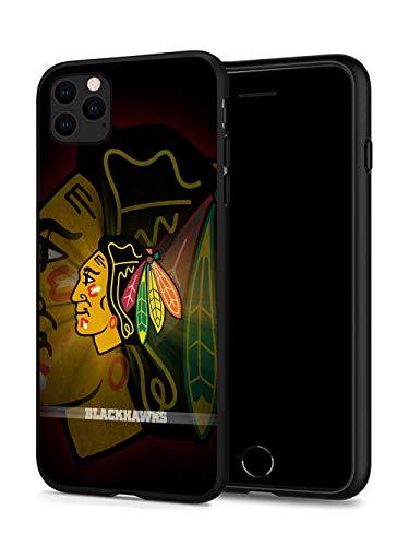 iPhone 11 Hülle, Fashion Hockey Hartplastik & Silikon Gummi Bumper Schutzhülle für iPhone 11 (6,1 Zoll Display) iPhone 11 case Blackhawks-CB