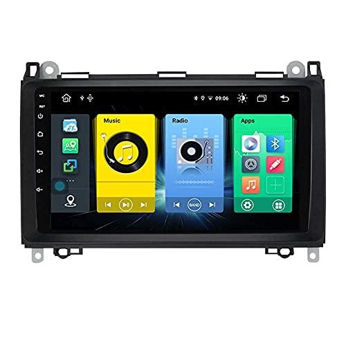 Android 10.0 coche estéreo 2 Din In-Dash Radio para Benz Sprinter B-clase B170 B200 2004-2012 navegación GPS pantalla táctil MP5 reproductor multimedia receptor de video con 4G/5G WiFi Carplay