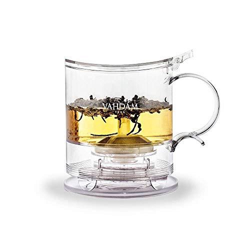 VAHDAM, Imperial Tea Maker, 16 Unzen, Teebereiter | 100% SICHER - FDA GENEHMIGT - BPA-Frei TRITAN | Teekanne Mit Siebeinsatz | Beste Teekanne mit Aufgüssen für losen Tee | 470 ml