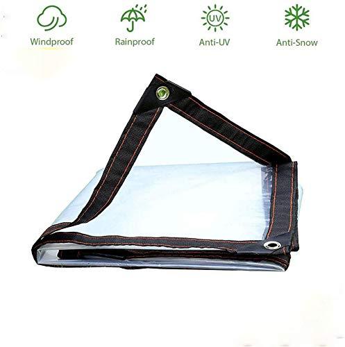 Clear Tarpaulin Heavy Duty Waterproof, Transparent Tarp Cover Tarps with Grommets Tear Proof Rainproof Anti-UV Tarp For Canopy Tent Boat RV Pool Cover