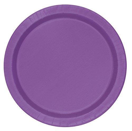 Unique Party 21.9cm Party Teller, 16er Pack, violett