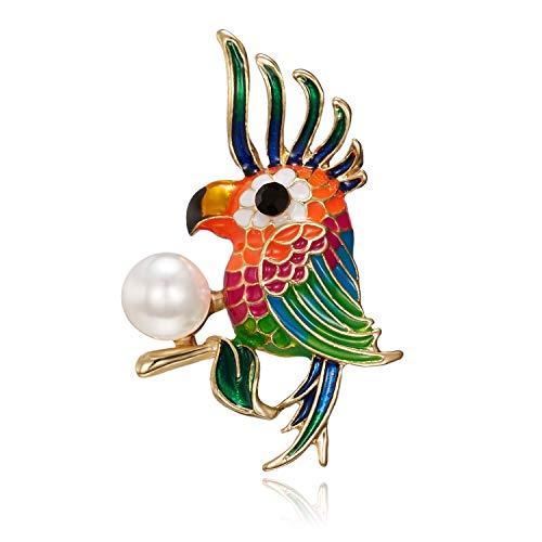 XZFCBH Broche Broches de pájaro Coloridos de Esmalte para Accesorios de Camisa...