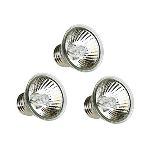 POPETPOP Full Spectrum Sun Lamp Sunbathe Wärmelampe für Echse Reptil und Amphibie 50W UVA + UVB 3.0 (Silber)