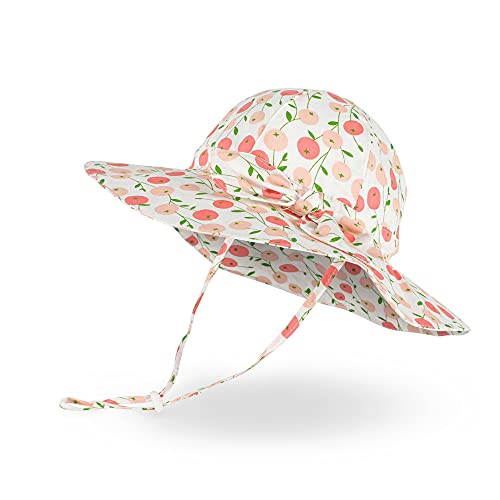 LACOFIA Cappellino Estivo da Sole per Neonata Cappello da Pescatore Bowknot per Bambina Berretto...
