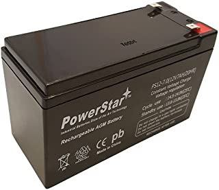 12v 7.0ah battery by PowerStar replaces np7-12