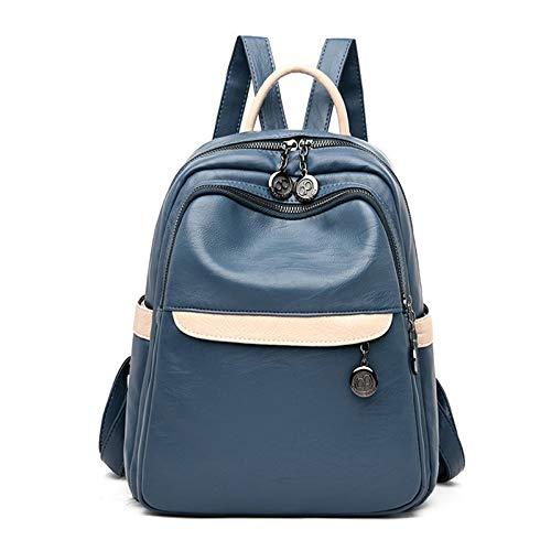 FANDARE Pelle Zaino Donna Moda Zaini Ragazze Impermeabile Zainetto Borsa da Scuola Backpack per Università Scuola Viaggio Lavoro Shopping Zaino Blu