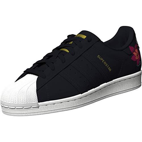 adidas Originals Women's Superstar Shoes Sneaker, Ink/Ink/Gold Metallic, 6.5