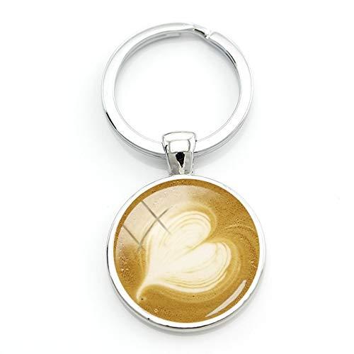 Schlüsselanhänger Kaffee-Trinker Herz Crema Geschenk Partner Morgenmuffel Romantischer Schlüsselanhänger