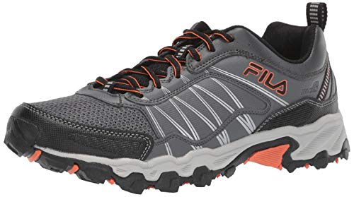Fila Men's at Peake 18 Trail Running Shoe, Castlerock/red Orange/Black, 11.5 D US