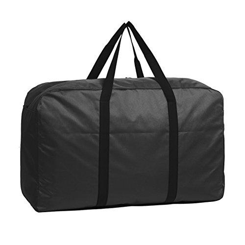 Bolsa de almacenamiento grande impermeable de 140 L, con asa, gran capacidad, bolsa de mano, bolsa de transporte, almacenamiento para ropa, viajes, camping, colegio,Negro