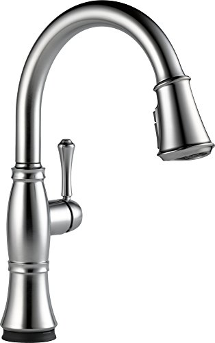 Delta Faucet 9197T-AR-DST Cassidy, Single Handle Pull-Down Kitchen Faucet with Touch2O Technology, Arctic Stainless -