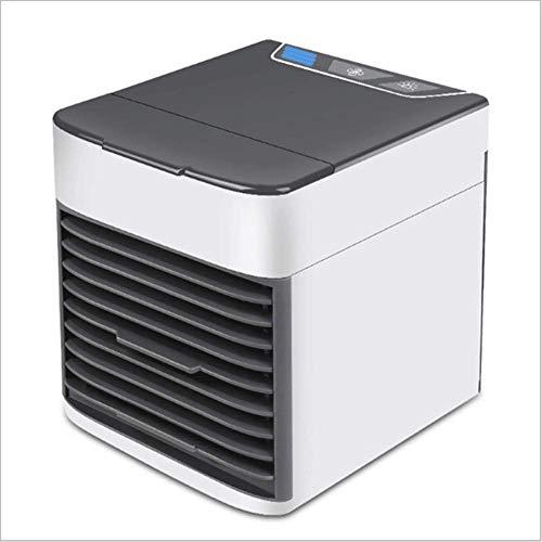 YUE Ventilador de Escritorio Acondicionadores de Aire móviles personales Mini Enfriador de Aire Acondicionador de Aire Humidificador de refrigeración por Agua 3 velocidades