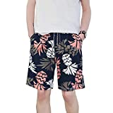 Pantalones De Playa para Verano Casuales Holgados De Hombres Mode De Marca Pantalones De Chándal Relajados Pantalones Ligeros Moda Cordón Traje De Baño (Color : S4, Size : L)