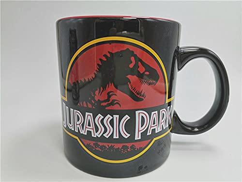 heshuqiaoFC Taza De Jurassic Park, Taza De Cerámica Periférica De Película, Aventura De Dinosaurio, Taza De Agua De Gran Capacidad, Taza De Café-2