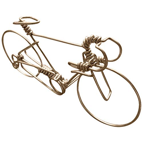 Handcrafted Mens Road Bike Medium ~ Unique Biking Gifts for Cyclists ~ Handmade Bicycle Ornament with One Whole Aluminum Wire w/No Single Break