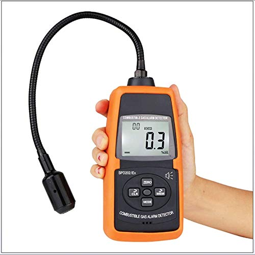 GLLP Detector de Gas Combustible Detector de Fugas de Gas inflamable Detector de Alarma de Gas Combustible Digital Analizador de Gases de Gas