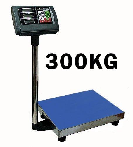 Premium platformweegschaal 300 kg / 50 g (digitaal) weegoppervlak 40 x 50 cm - werkt op batterijen - industriële weegschaal platform weegschaal pakketweegschaal