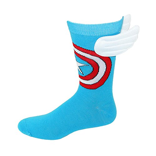 Toy Zany Marvel Captain America Crew Sock with Wings