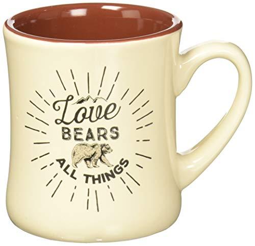 Creative Brands Papel Creature Comforts Ceramic Coffee Mug, Love Bears All Things