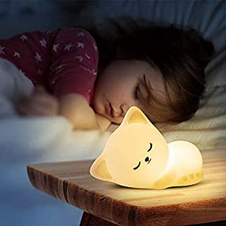 Cute Kitty Kids Night Light, Cat Kawaii Birthday Gifts Room Decor Bedroom Decorations for Baby Toddler Teens Girls Boys Ch...