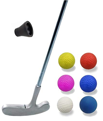 Golfas Minigolfset Professional - 8-teilig (mit 6 verschiedenen Shore-Bällen für unterschiedliche Bahnen u. Bedürfnisse) und Minigolf-Pick-Up