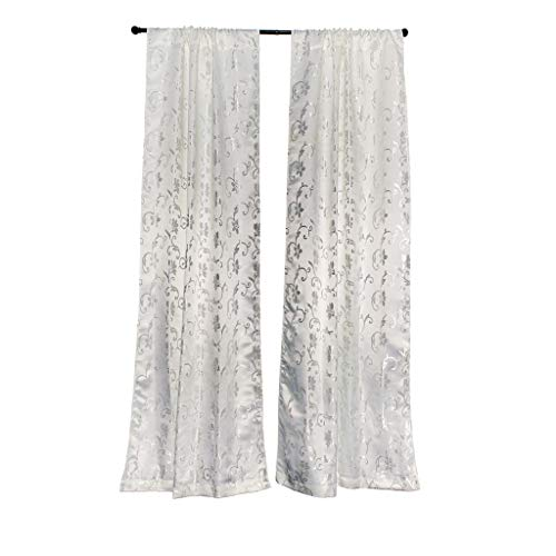 Vera Neumann Checkered Pole Top Fenster Vorhang 2Panel Drapes, weiß, 34,5x 84
