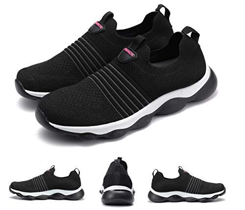 gracosy Zapatillas de Running para Mujer Zapato de Trail Verano Slip-on Malla Zapatillas Deportivas Transpirable Ligero Casual Zapato Al Aire Libre