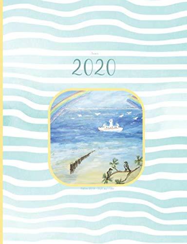 Annes 2020   Fähre 2019 • Wyk auf Föhr: Kalender 2020 in Wochen - Besonders GROSS & LEICHT  - Wochenuebersicht - Reisekalender - Planer - Platz für NOTIZEN & TO DO´s