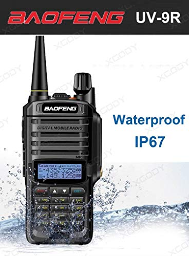 BFTECH Direct Walkie Talkies UV-9R 5W Two Way Radio BF-UV9R IP67 Waterproof Dual Band Ham Radio - Black