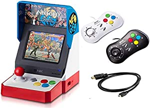 Neogeo Mini Pro Player Pack USA Version - Includes 2 Game Pads (1 Black & 1 White) and HDMI Cable - Neo Geo Pocket