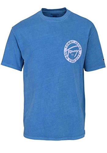 Tommy Hilfiger Tjm Washed Graphic Tee Camicia, Blu (Saxony Blue 413), XX-Large Uomo