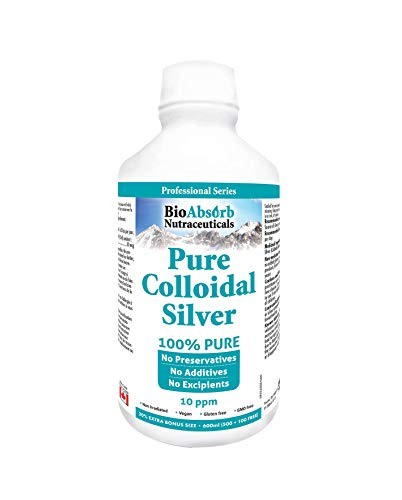 Colloidal Silver Liquid. Highly Bioavailable Pure Solution.10 ppm, 20 oz. No Additives.