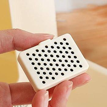 Vommpe 2X Distributeur Croquettes pour Chien/Chat Distributeur Automatique Eau Amovible Plastique Gamelle (Gris)
