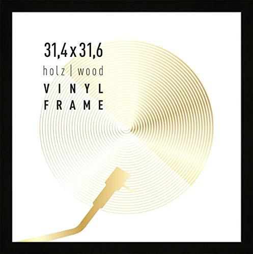 CristalRay premium vinyl LP ram för att binda skivor 33 x 33 cm – trä – svart