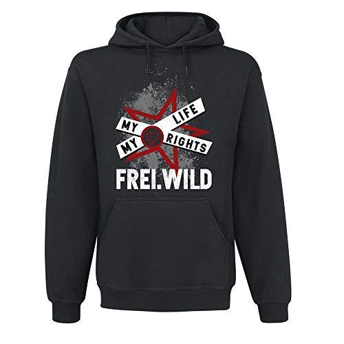 Frei.Wild - My Story My Life, Kapuzenpullover, Farbe: Schwarz, Größe: 5XL