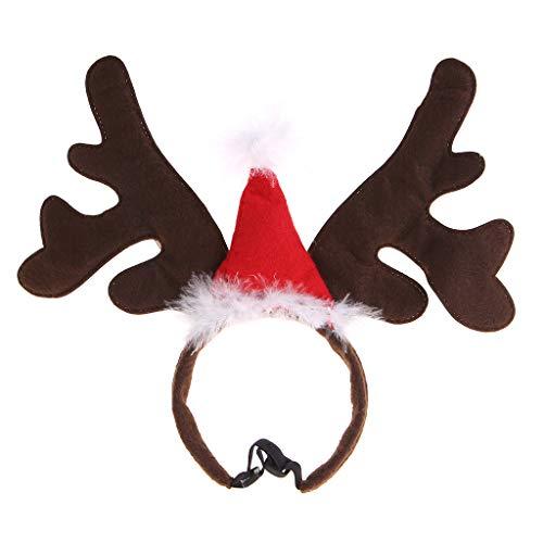 WT-DDJJK Banda de aro, Navidad Mascota Diadema Ciervo Cuerno Sombrero Disfraz Perro Cachorro Gato Cosplay Fiesta