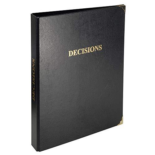 Exacompta 4615E- Decisions-binding, 32 x 26 cm, 4 ringen van metaal, goudkleurige titel, envelop/rug