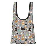 Hdaw Doblar bolsas de compras ecológicas impermeables de gran capacidad-Shiba Inu Dogs Dog and...