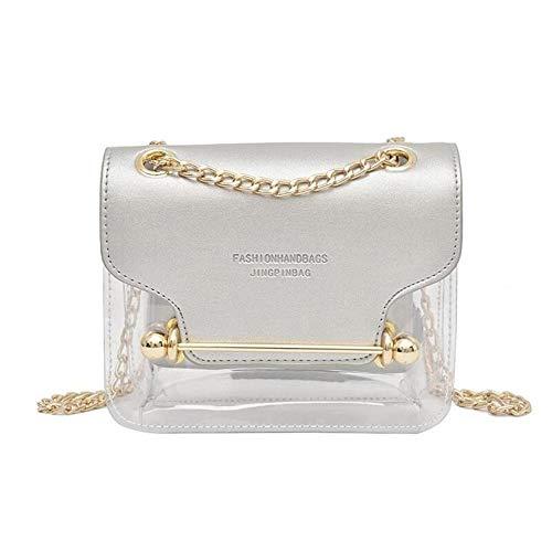 Coil.c transparante handtas voor dames, transparante PVC handtas, waterdichte schoudertas voor dames