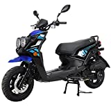 X-PRO X19 Moped Scooter Street Scooter Gas Moped 150cc Adult Scooter Bike with 12' Aluminum Wheels! (Blue)