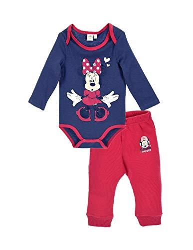 Minnie Ensemble Pantalon et Body bébé Fille 2 Coloris de 6 à 24mois - Marine/Rose, 12 Mois