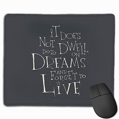 Dwell On Dreams Non-Slop Rubber Mousepad Gaming Mouse Pad with Stitched Edge 11.8'X9.8'