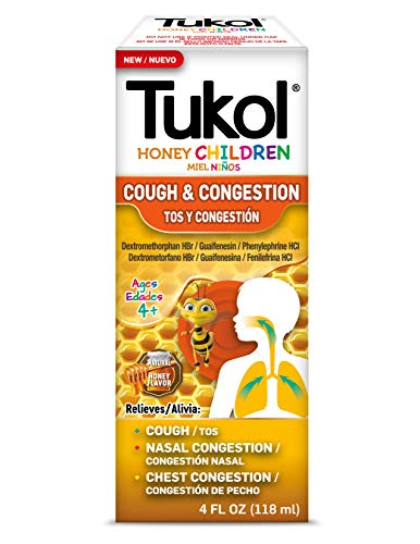 TUKOL Children's Cough & Cold Multisymptom Cough Syrup, Honey, 4 Ounce