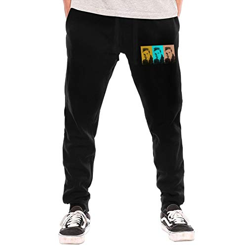 Mens Jogger Sweatpants Elvis Presley Elastic Waist Pajama Pants Black