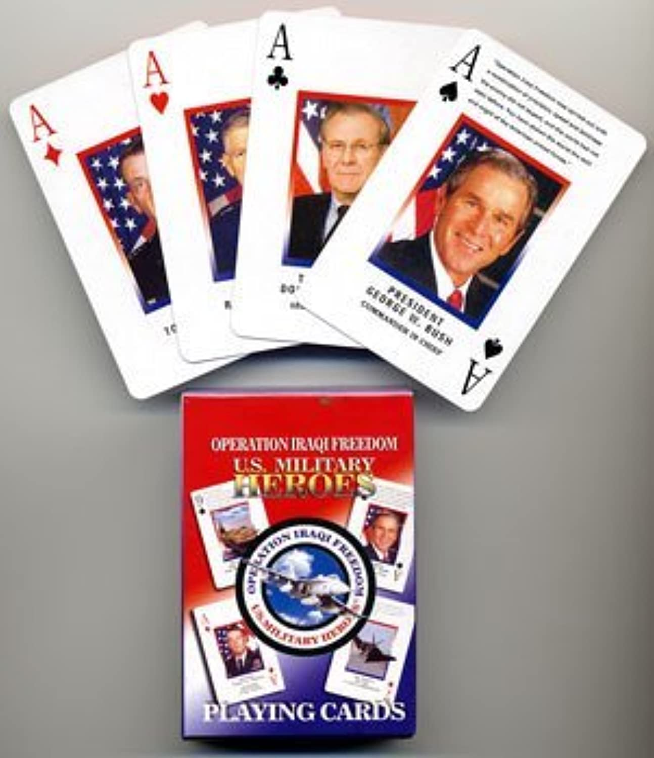 Operation Iraqi Freedom U.S. Military Heroes Playing Cards by Select